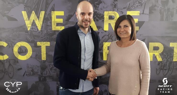 Davide Coato (Cyp Wheels) e Donatella Suardi Presidente dello Scott Racing Team